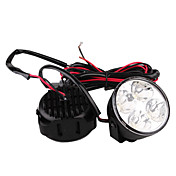 Car Daytime Running Light (2 PCS, 4 LED, White Light, Waterproof)