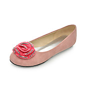 Suede Low Heel Closed Toe Shoes With Flower (More Colors)