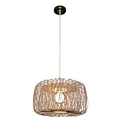 Bamboo Pendant Light with 1 Light