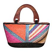 Colorful Geometric Pattern Woven Handbag (More Colors)