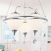 Stylish Pendant Light with 3 Lights in Warm Light
