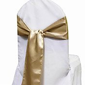 7.8&quot; Simple Elegant Satin Chair Sash  Set of 6 (More Colors)