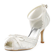 Satin Stiletto Heel Sandals / Pumps With Ruffles Wedding Shoes (More Colors Available)