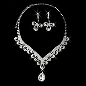 Beautiful Rhinestone Classical Design Ladies' Jewelry Set (45 cm)