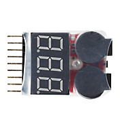 1-8S Lipo Battery Voltage Tester Low Voltage  Buzzer Alarm