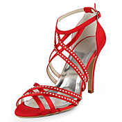 Silk Stiletto Heel Sandals / Pumps With Rhinestone Wedding Shoes (More Colors Available)
