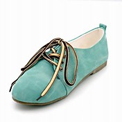 Leatherette Closed Toe Flats/Sneakers With Laces (More Colors)