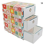 Multifunction PP Storage Box with 3 Drawers