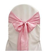 7.8&quot; Elegant Taffeta Chair Ribbon Sash  Set of 6 (More Colors)