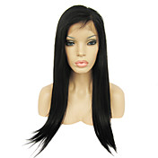 Full Lace with Stretch on Crown Long Yaki Straight Indian Remy Hair Wig