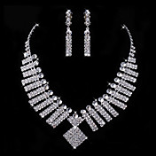 Gorgeous Rhinestone Two Piece Lovely Ladies' Jewelry Set (45 cm)