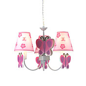 Butterfly Ceiling Light with 3 Lights in Pink