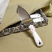 Embracing Hearts Design Resin Handle Wedding Cake Server