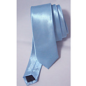 Light Blue Silk-like Skinny Tie