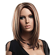 Capless High Quality Synthetic Medium Length Blonde and Brown Fashion Wig