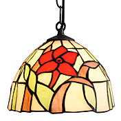 Tiffany Pendant Light with 1 Light in Rose Pattern