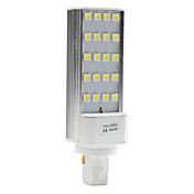 G24 3W 20x5050 SMD 200-250LM 5500-6500K Natural White Light LED Bulb (110-240V)