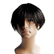 Capless High Quality Synthetic Short Straight Men's Wig