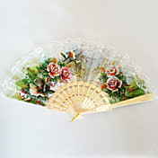 Plastic Lace Wedding Fan (Set of 4)