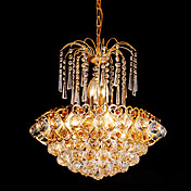 Modern Crystal Ceiling Light with 6 Lights
