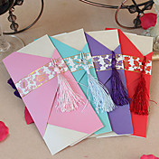 Elegant Wedding Invitation With Tassels - Set Of 60 (More Colors)
