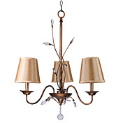 Comtemporary Metal Chandeliers with 3 Lights Bronze Finish