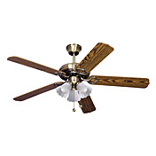 Contemporary Wooden Blades Hugger Ceiling Fan Lights with 3 Lights