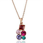 18K Gorgeous Fashion Rhinestone Alloy Colorful Necklace