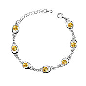 Austrian Crystal With Real Platinum Plated Anti-Allergy Ladies Bracelet Happiness Waltz (More Colors)