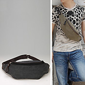 Simple Men's Leisure Canvas Small Chest Package(24cm*8cm*11cm)