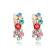 Phoenix Totem Austrian Crystal In Real Platinum Plated Ladies' Earrings (More Colors)