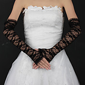 pizzo opera lunghezza guanti mezze dita sposa (pi colori)