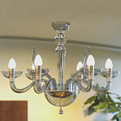 Modern Acrylic Chandeliers with 6 Lights Candle Featured