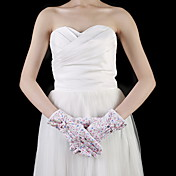 Cotton Wrist Length Fingertips Party / Evening Gloves With Bow (More Colors)