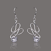 Gorgeous Silver Plate Crystal Shape Earring