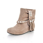 Suede Flat Heel Closed Toe Ankle Boots Party / Evening Shoes (More Colors)