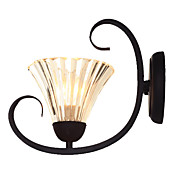 60W Classic Wall Light in Glass