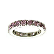 Fantasty Cubic Zirconia Platinum Plated Ladies' Finger Ring(More Colors)