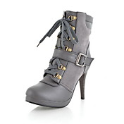 imitacin piel botas de tacn de aguja de tobillo fiesta / eveningshoes (ms colores)