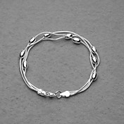 Fashion Silver Plated Three Chain And Big Beads Women's Bracelet