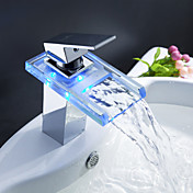 Sprinkle by Lightinthebox - Color Changing LED Waterfall Bathroom Sink Faucet