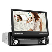 7 tommer Digital Touch Screen 1 DIN bil DVD-afspiller Support 3D-menu, TV, RDS, iPod, Bluetooth, Ratstyring, ATV