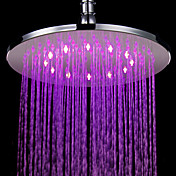 7 Colors Changing LED Contemporary Chrome Shower Faucet Head of 10 inch