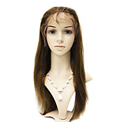 Lace Front 100% Brazil Remy Hair Straight Long Wig