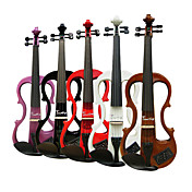 Timothy - (EV601) 4/4 Ebony Parts Electric Violin with Case/Rosin/Cable/Headphone/Battery (Multi-Color)