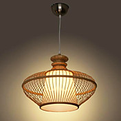 60W Modern Bamboo Pendant Light with 1 Light Simple Design