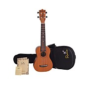 Rainie - (S-30L) High-Grand Solid Mahogany Soprano Ukulele with Gig Bag/Tuner