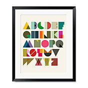 Typograph & Symbols Abstract Twenty Six English Letters Framed Print