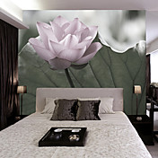 Lotus Blossom Modern Botanical Nature Mural