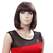 Capless Short High Quality Synthetic Japanese Kanekalon Straight Wig Full Bang